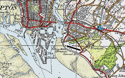 Old map of Woolston in 1919