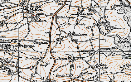 Old map of Yarde in 1919