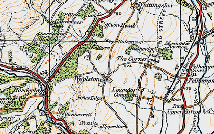 Old map of Woolston in 1920