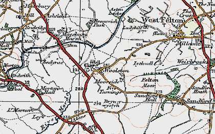 Old map of Woolston in 1921