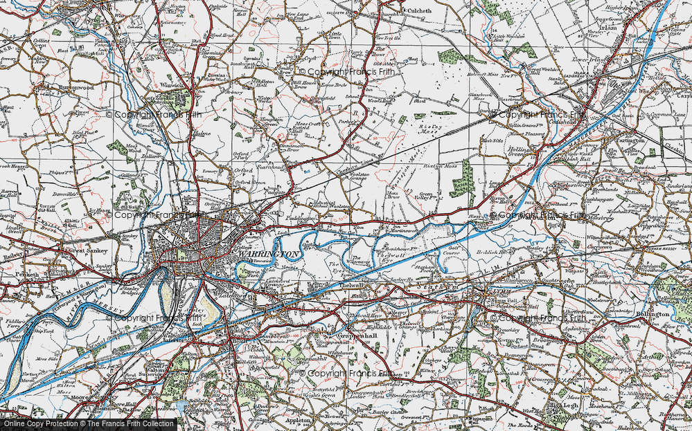 Old Map of Woolston, 1923 in 1923