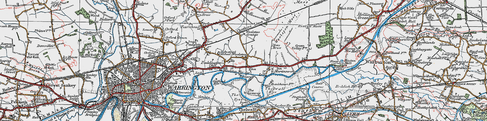 Old map of Woolston in 1923