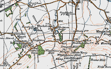 Old map of Whitehorse Hill in 1919