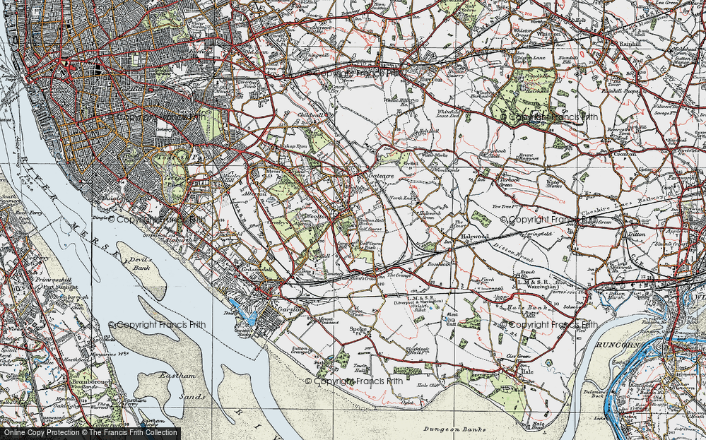 Old Map of Woolton, 1923 in 1923
