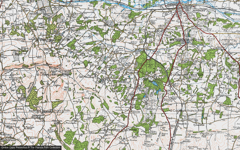 Old Map of Woolton Hill, 1919 in 1919