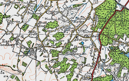 Old map of Woolton Hill in 1919