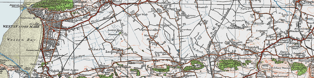 Old map of Woolvers Hill in 1919