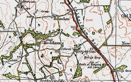 Old map of Wooperton in 1926
