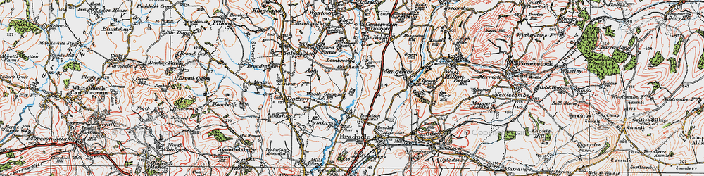 Old map of Wooth in 1919