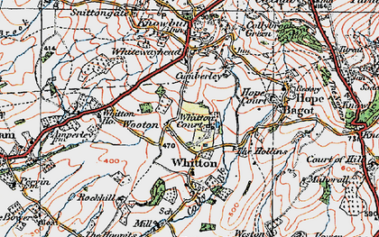 Old map of Wooton in 1920