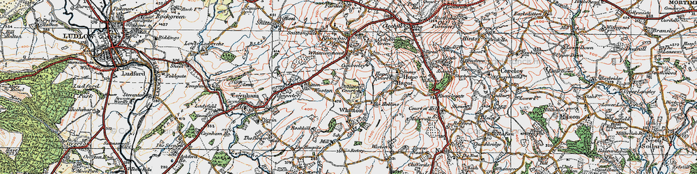 Old map of Whitton Ho in 1920