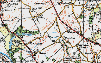 Old map of Wooton in 1921