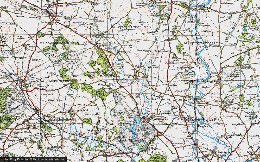 Old Map of Wootton, 1919 in 1919
