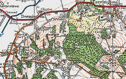Old map of Wootton in 1920