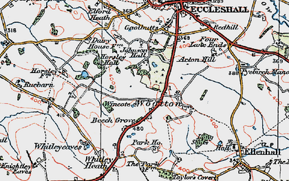 Old map of Wootton in 1921