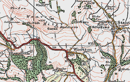 Old map of Wildhay in 1921