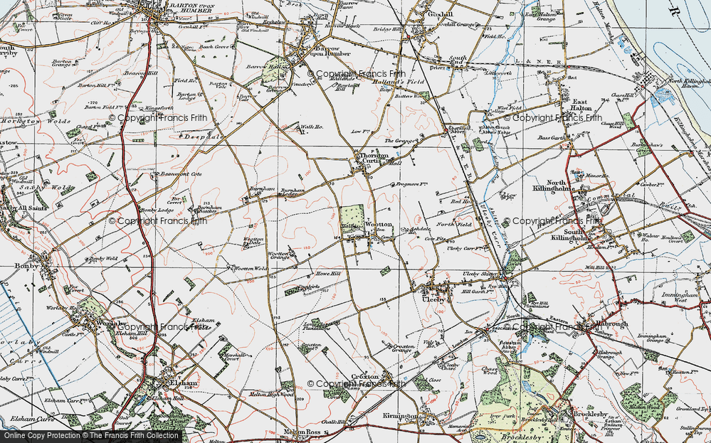 Old Map of Historic Map covering Ashdale Ho in 1924
