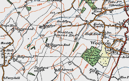Old map of Wootton Bourne End in 1919