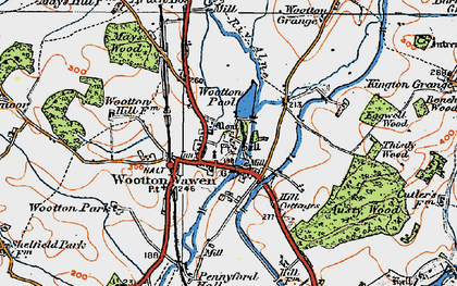 Old map of Austy Manor in 1919