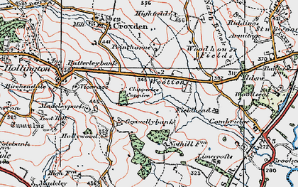 Old map of Woottons in 1921
