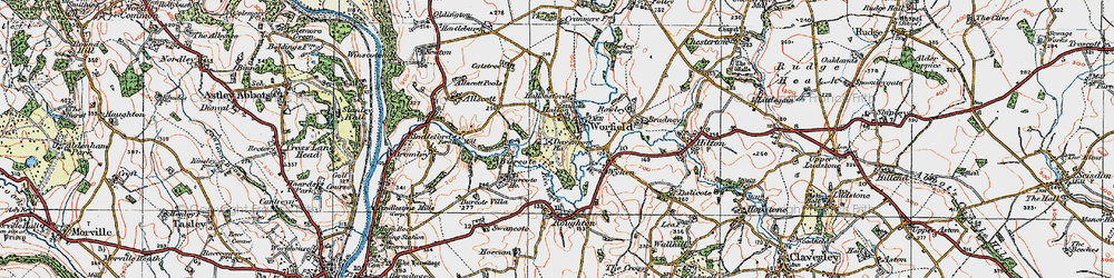 Old map of Worfield in 1921