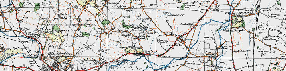 Old map of Workhouse End in 1919