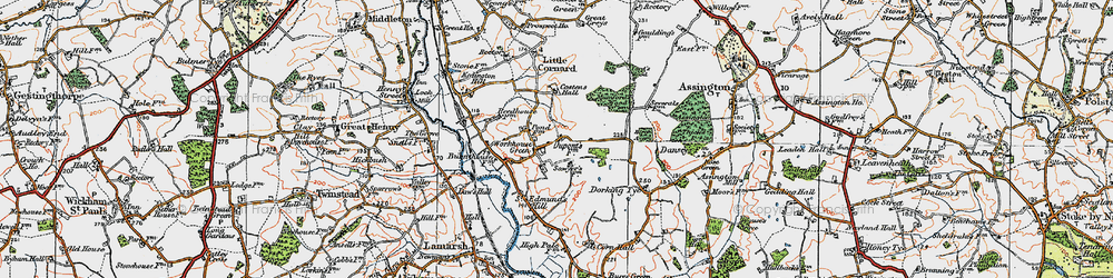Old map of Workhouse Green in 1921