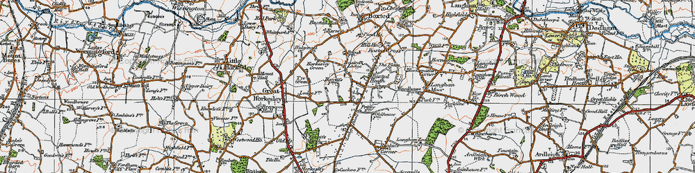 Old map of Workhouse Hill in 1921
