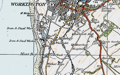 Old map of Workington in 1925