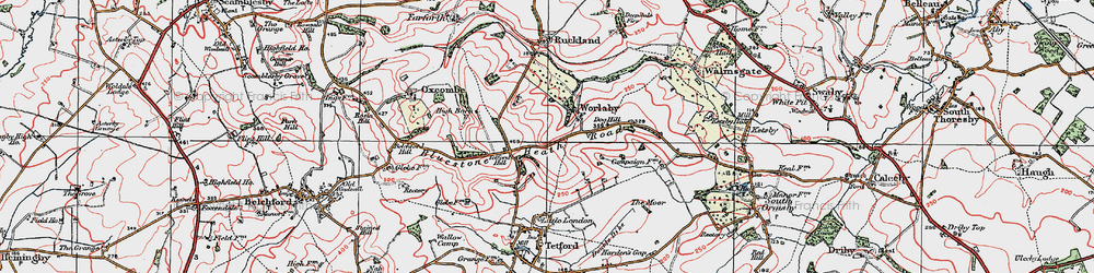 Old map of Worlaby in 1923