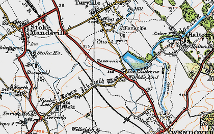 Old map of The Chilterns in 1919