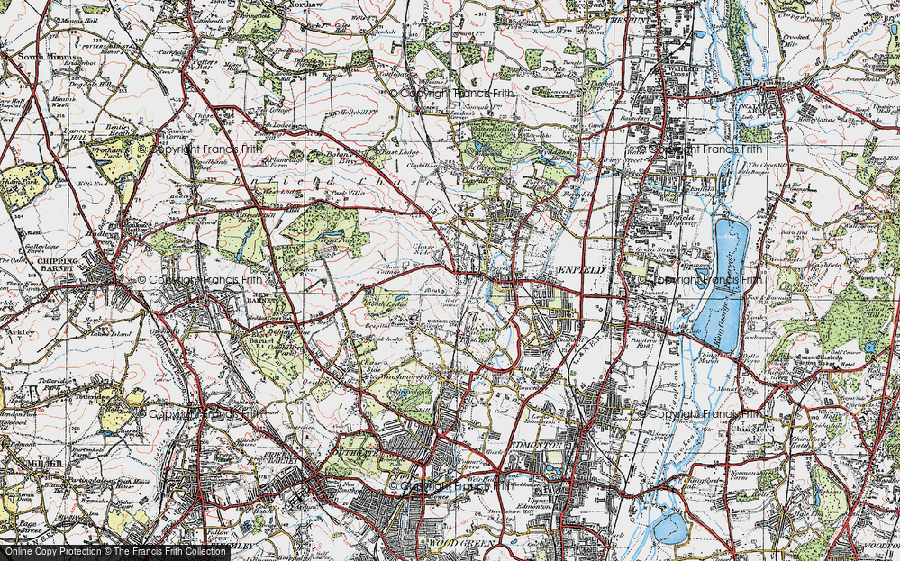Old Map of World's End, 1920 in 1920