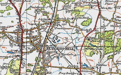 Old map of Wivelsfield Sta in 1920