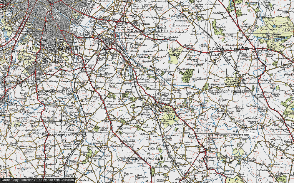 Old Map of Worlds End, 1921 in 1921