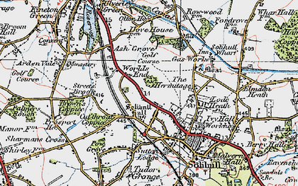 Old map of Worlds End in 1921