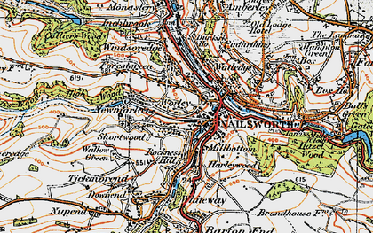 Old map of Worley in 1919