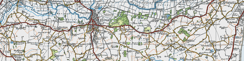 Old map of Wild Carr in 1921