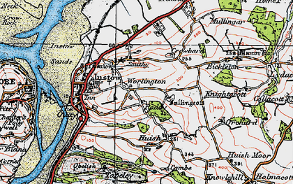 Old map of Worlington in 1919