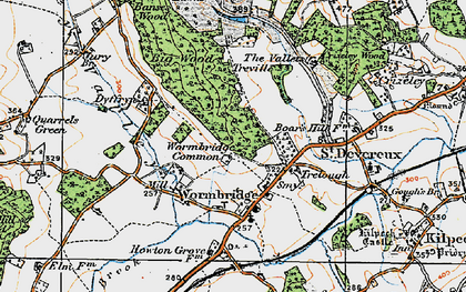 Old map of Wormbridge in 1919
