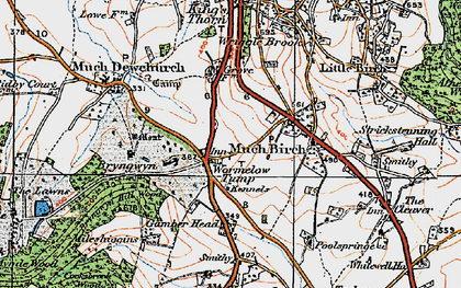 Old map of Wormelow in 1919