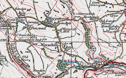 Old map of Wormhill in 1923