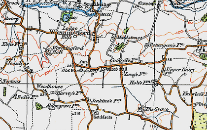 Old map of Wormingford in 1921