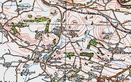 Old map of Worminster in 1919