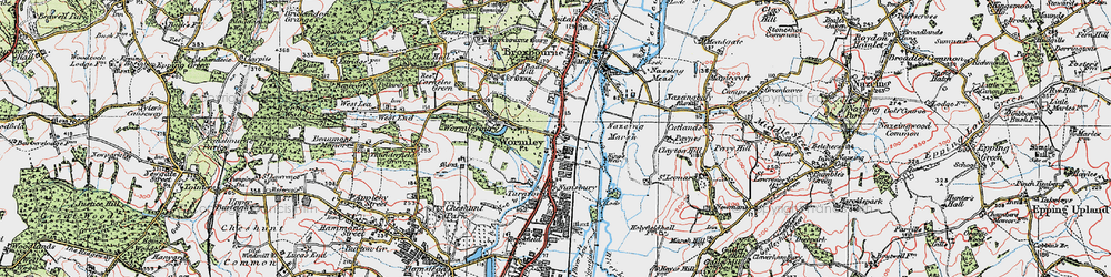 Old map of Wormley in 1920