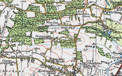 Old map of Westlea in 1920