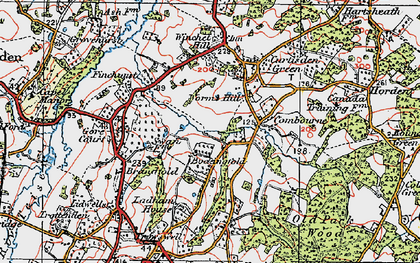 Old map of Worms Hill in 1921