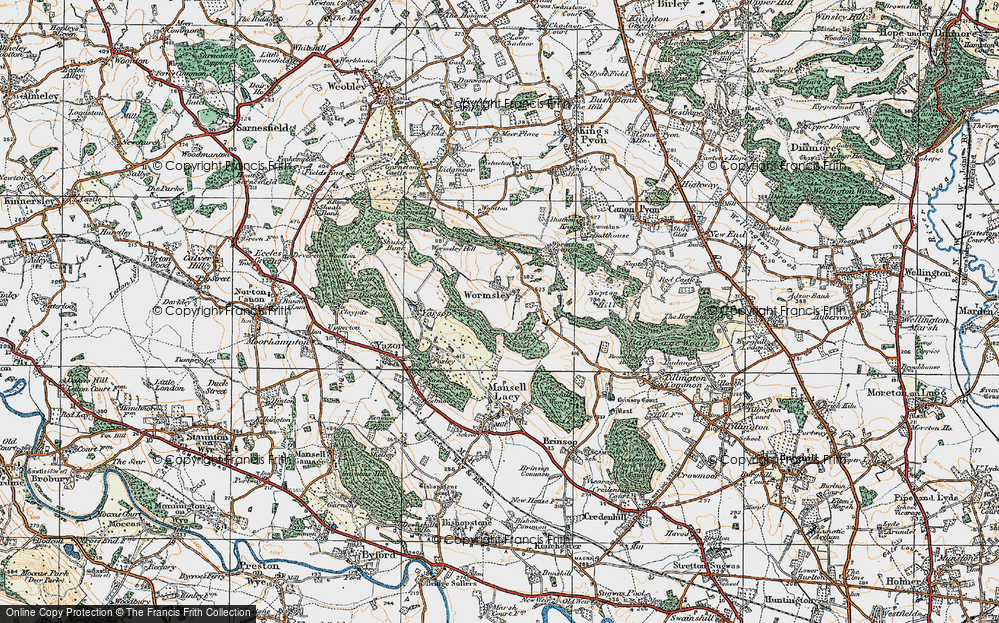Old Map of Wormsley, 1920 in 1920