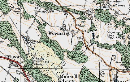 Old map of Wormsley Grange in 1920