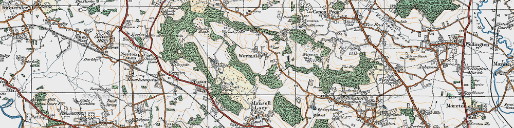 Old map of Wormsley in 1920