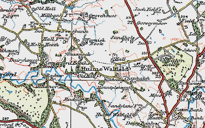 Old map of Wornish Nook in 1923
